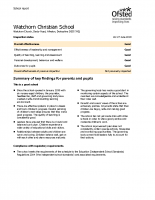 Watchorn Christian School Ofsted Report